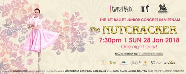 """Hà Nôi: vũ kịch ballet nhí """"Kẹp hạt dẻ"""" đầu tiên tại Việt Nam (28/01)"""