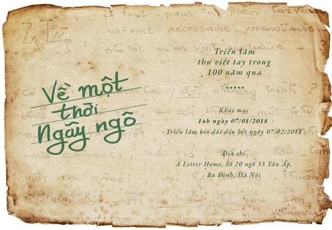 Hà Nội: Triển lãm thư viết tay trong 100 năm qua (07/01 – 07/02/2018)