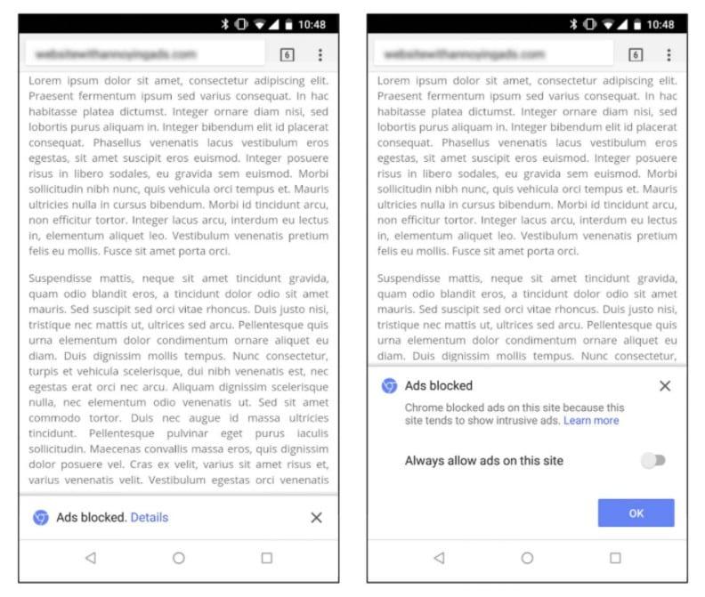 Trình duyệt Chrome của Google tự động chặn quảng cáo