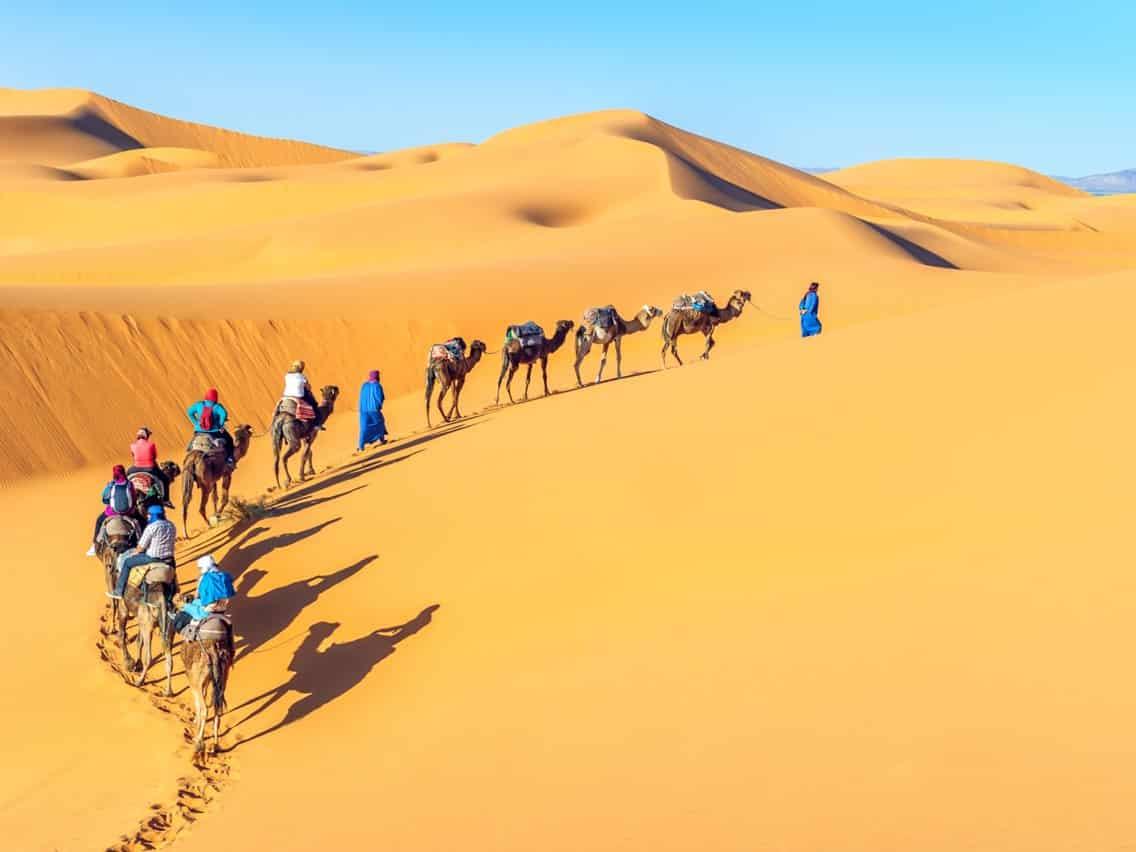 Cảnh qua sa mạc