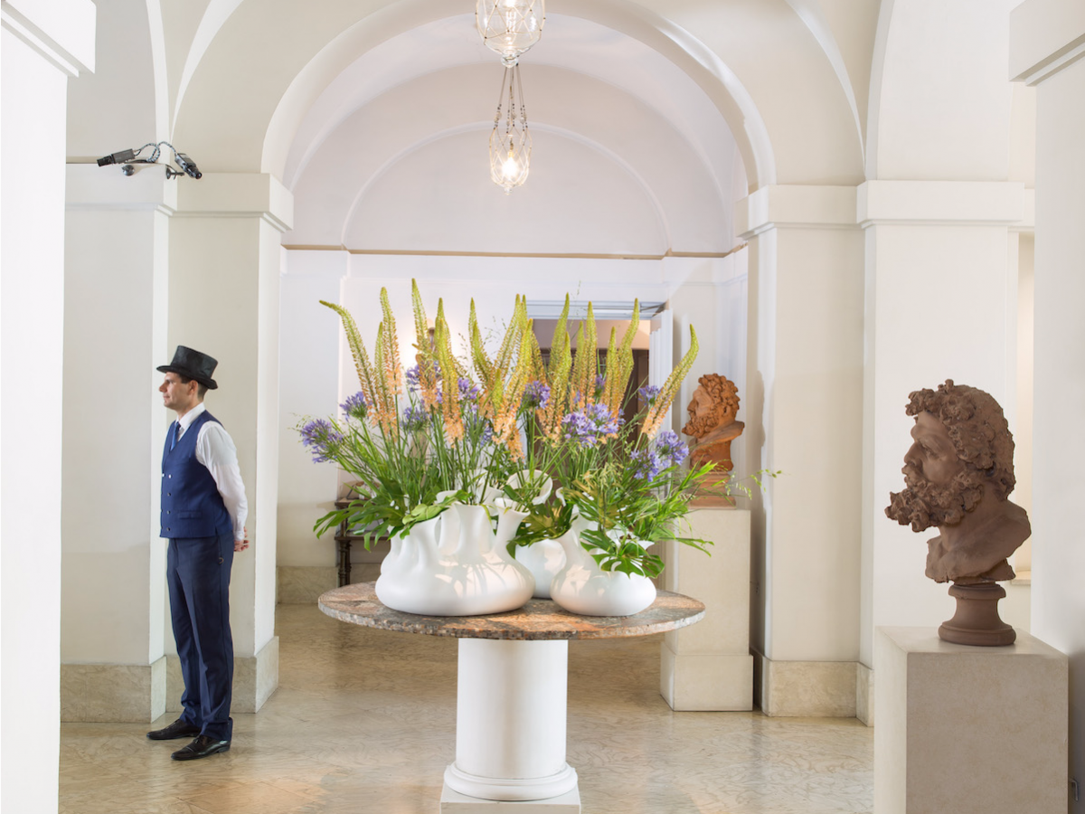 12. Hotel de Russie — Rome, Italy. Located between popular landmarks Piazza del Popolo and the Spanish Steps, Hotel de Russie offers an elegant, refined, and relaxed getaway base for an adventure through Rome — concierge in a top hat included.
