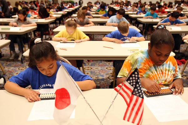 American School Students Partcipate Abacus Contest