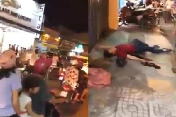 hai hiệp sĩ bị đâm