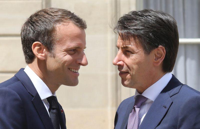 Emmanuel Macron va Giuseppe Conte
