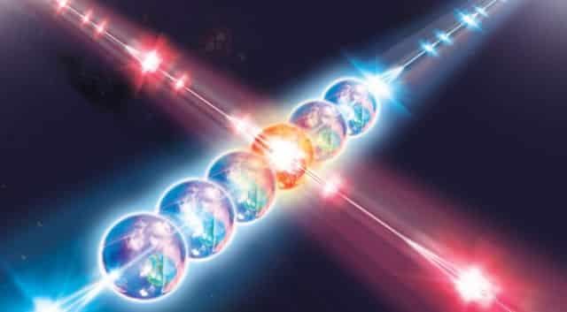 Ảnh minh họa về vướng víu lượng tử (ảnh quaouterplaces.com)