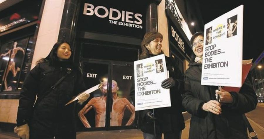 triển lãm cơ thể người tại Việt Nam, nhựa hóa cơ thể, triển lãm xác người, biểu tình triển lãm thi thể người