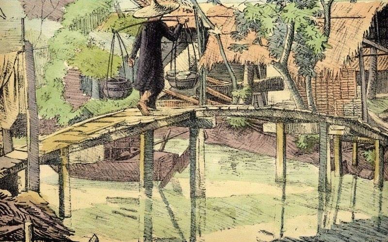 Bộ tranh vẽ đầy hoài niệm về cuộc sống của người Việt thập niên 1930 - ảnh 27