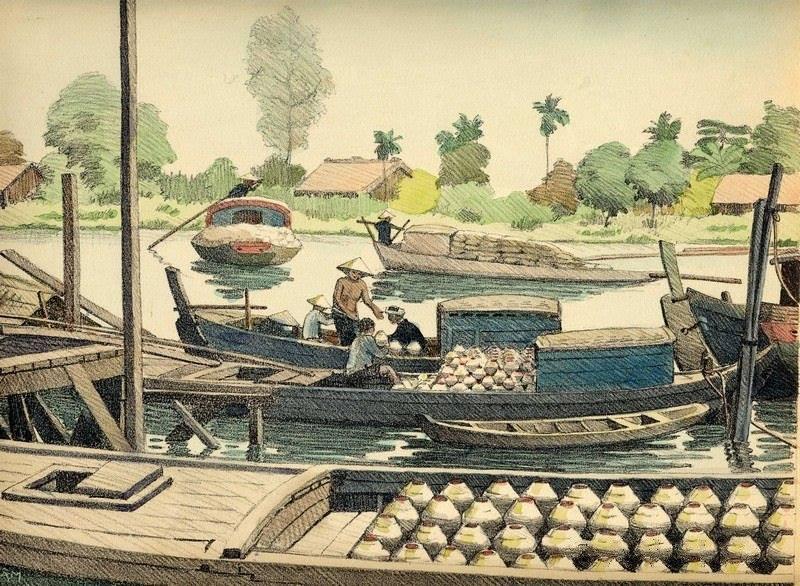 Bộ tranh vẽ đầy hoài niệm về cuộc sống của người Việt thập niên 1930 - ảnh 17