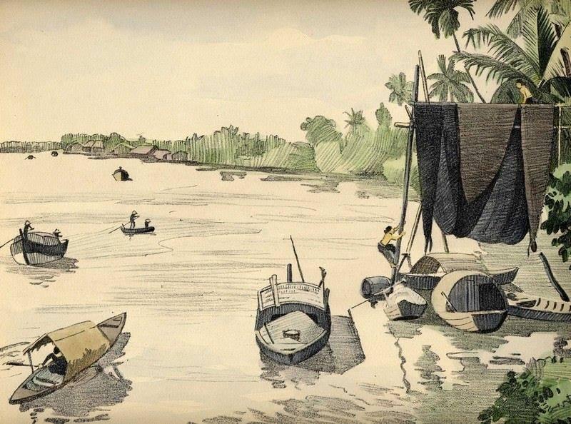 Bộ tranh vẽ đầy hoài niệm về cuộc sống của người Việt thập niên 1930 - ảnh 16