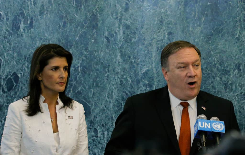 Mike Pompeo va Nikki Haley