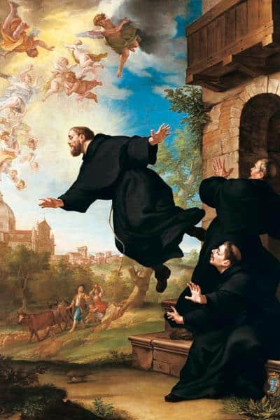Thánh Joseph nhấc bổng người lên và bay tại nhà thờ Basilica of Loreto, (ảnh: Ludovico Mazzanti)