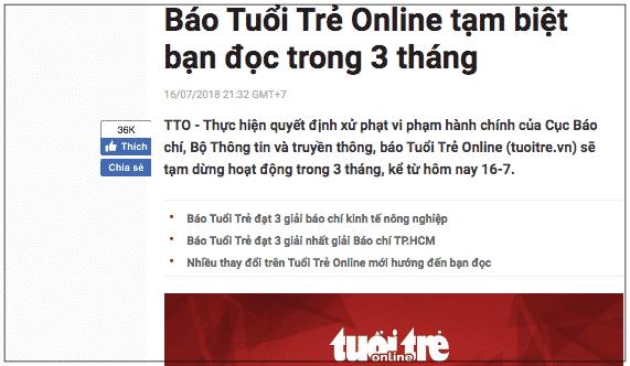 (Ảnh chụp màn hình trên trang của Tuổi trẻ Online)