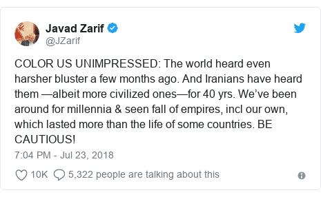 Zarif -tweet