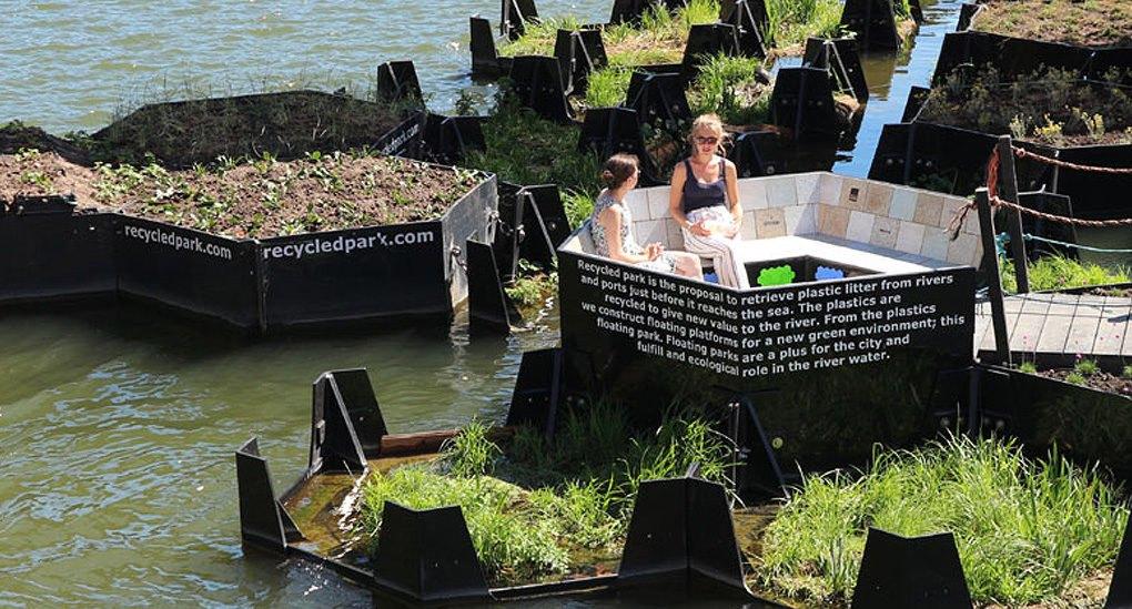 Độc đáo: Công viên nổi ở Hà Lan được làm từ rác thải nhựa