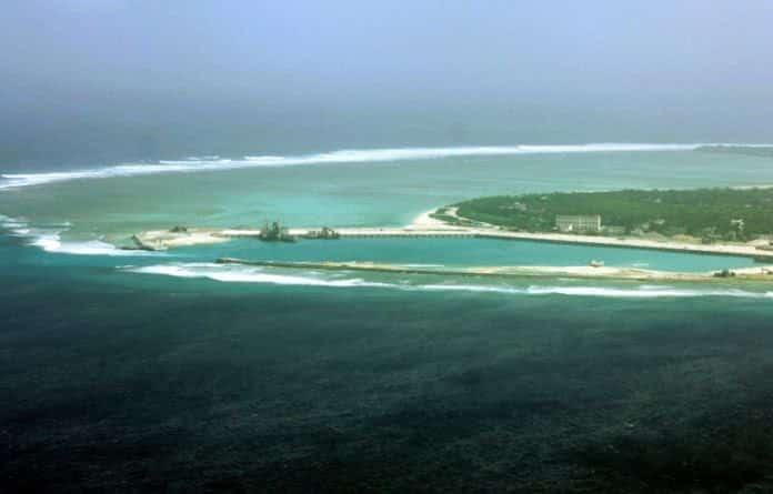 Một góc đảo Phú Lâm thuộc quần đảo Hoàng Sa của Việt Nam.