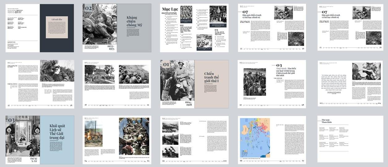 Học sinh cấp ba thử thiết kế sách giáo khoa lịch sử