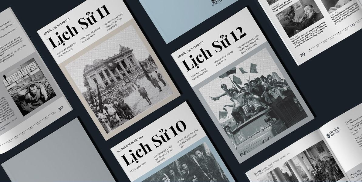Học sinh Cấp ba thiết kế lại sách lịch sử