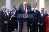 Tổng thống Donald Trump thông báo về Hiệp định USMCA tại vường Hoa Hồng hôm 1/10/2018.