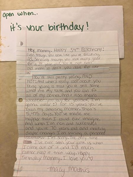 Những lá thư bất ngờ của con gái gửi đến mẹ sau khi qua đời