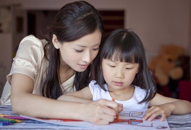 mẹ Nhật dạy con