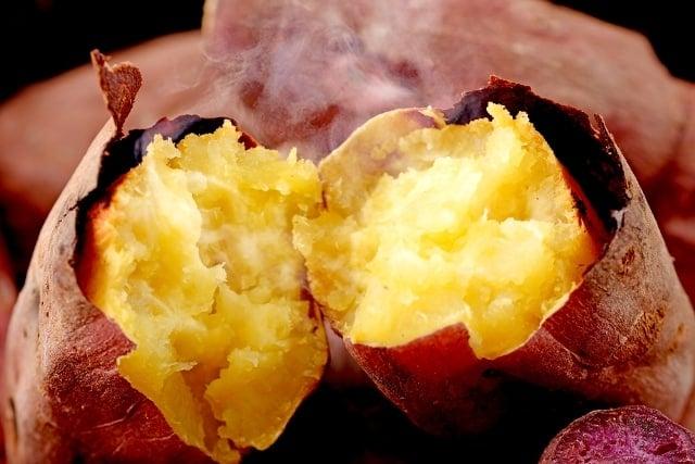 khoai lang, da khô, thải độc ruột, Lợi ích của khoai lang