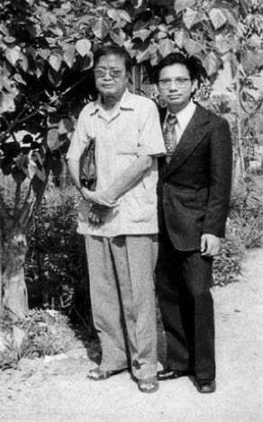 Cụ Ngô Hùng Diễn và Giáo sư Trần Quang Quyến.