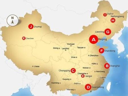 """Bản đồ tiết lộ """"Trang trại người"""" để thu hoạch nội tạng tại Trung Quốc"""