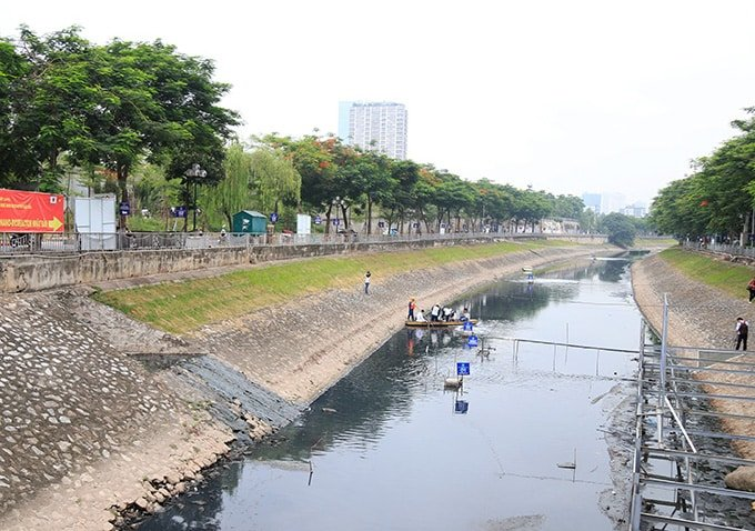 làm sạch sông Tô Lịch, sông Tô Lịch, chuyên gia Nhật, xả nước sông Tô Lịch, xả nước hồ Tây