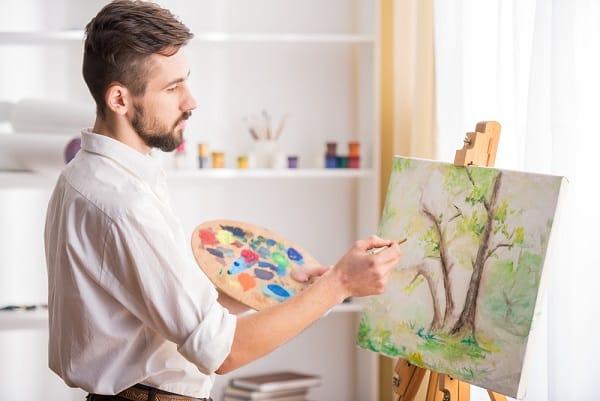 Liệu pháp nghệ thuật, hội họa, căng thẳng