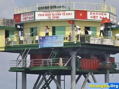 Cảnh sát biển Việt Nam, biển đông, bãi tư chính, tàu trung quốc, Haiyang Dizhi 8, cảnh sát biển việt nam đối đầu trung quốc, Nhà giàn