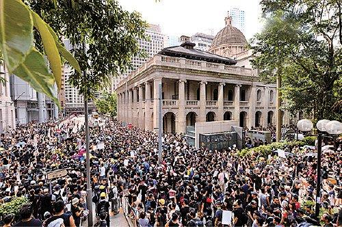 biểu tình Hồng Kông, Hồng Kông, công viên Chater Garden