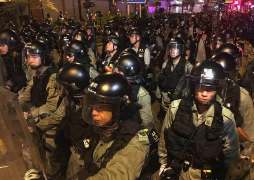 Hồng Kông, biểu tình Hồng Kông, cảnh sát Hồng Kông