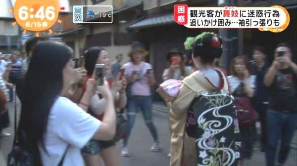 Truyền thông Nhật phê bình du khách TQ 'quấy rối' Geisha