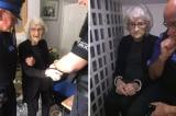 Cụ bà 93 tuổi rất hạnh phúc khi được... cảnh sát bắt