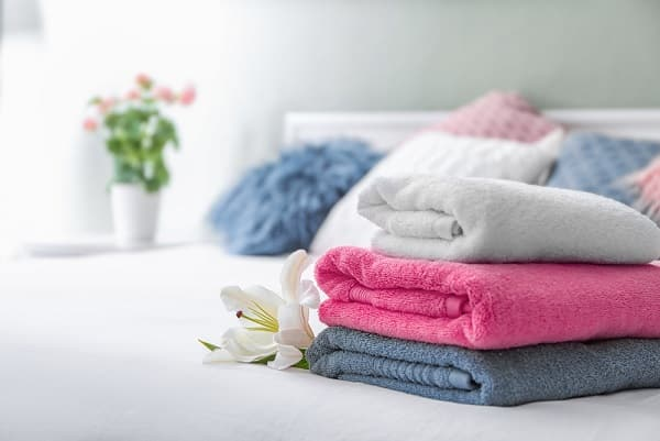 dọn dẹp nhà cửa, khăn bông