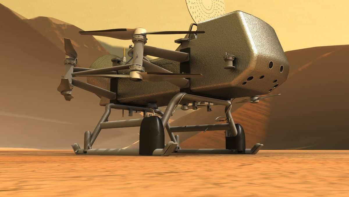 NASA sẽ gửi máy bay drone Dragonfly đến Titan, mặt trăng của sao Thổ