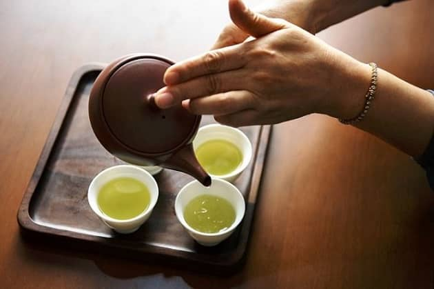 tra xanh, uống trà