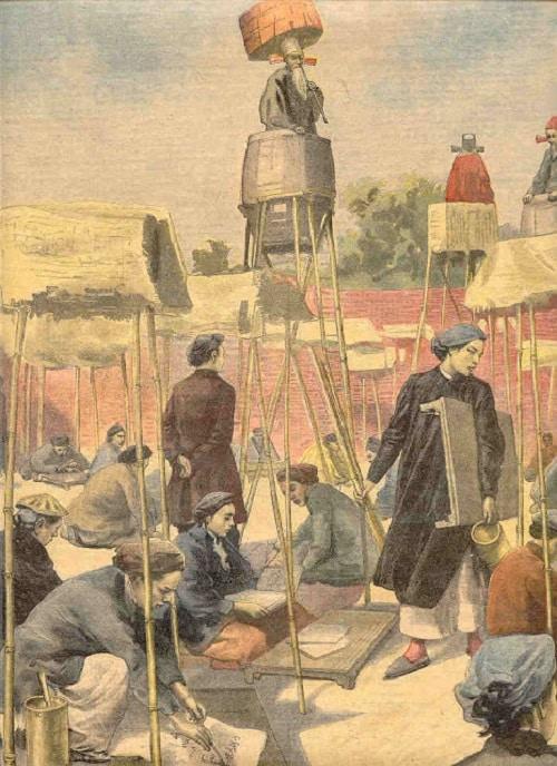 Việc xử phạt gian lận thi cử thời xưa