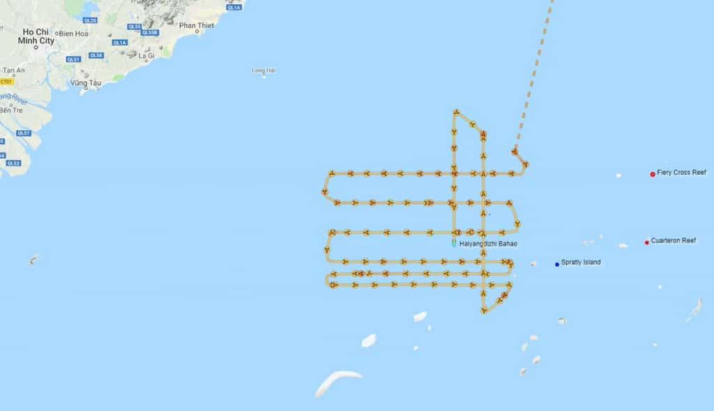 Cảnh sát biển Việt Nam, biển đông, bãi tư chính, tàu trung quốc, Haiyang Dizhi 8, cảnh sát biển việt nam đối đầu trung quốc