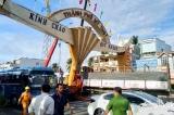Xe tải tông nghiêng cổng chào TP. Mỹ Tho: Thiệt hại hơn 1 tỷ đồng