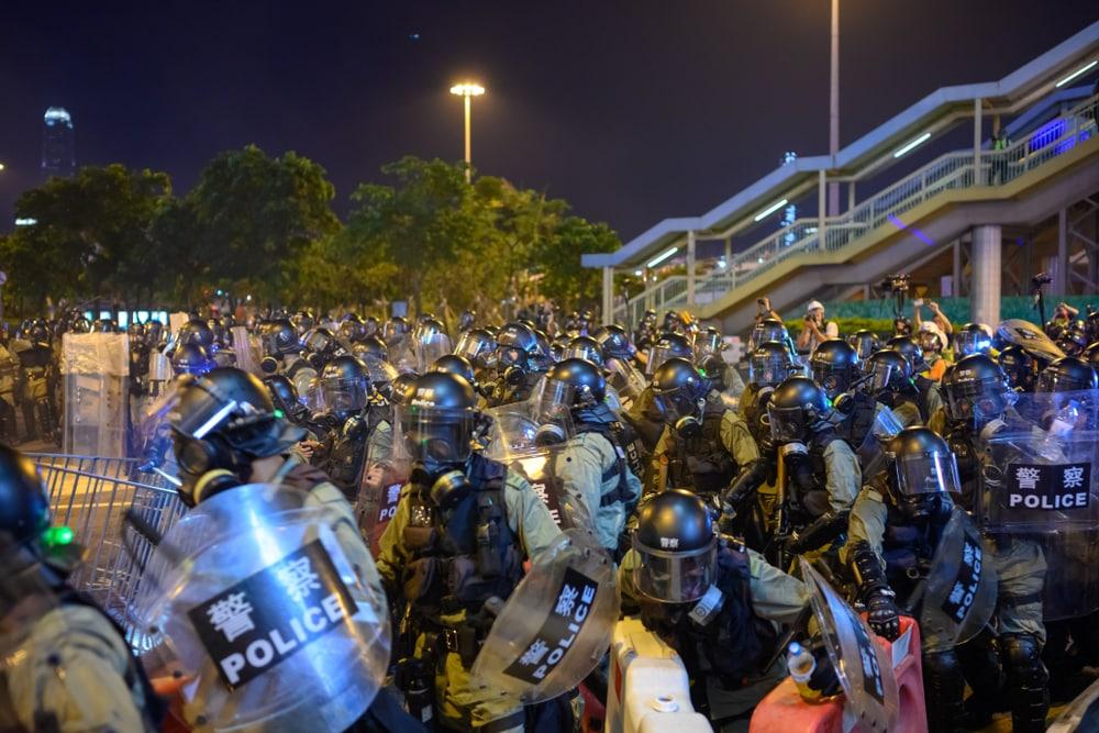 Người biểu tình Hồng Kông đang có nguy cơ bị chế độ Trung Quốc dùng bạo lực đàn áp biểu tình.