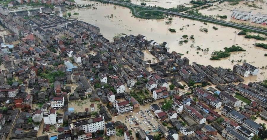 bão lekima, ngập lụt ở Trung Quốc