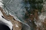 Cháy rừng Amazon có thể nhìn thấy từ không gian, khói che mặt trời São Paulo
