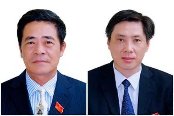 Bí thư tỉnh Khánh Hòa Lê Thanh Quang (Trái) và Chủ tịch tỉnh Khánh Hòa Lê Đức Vinh