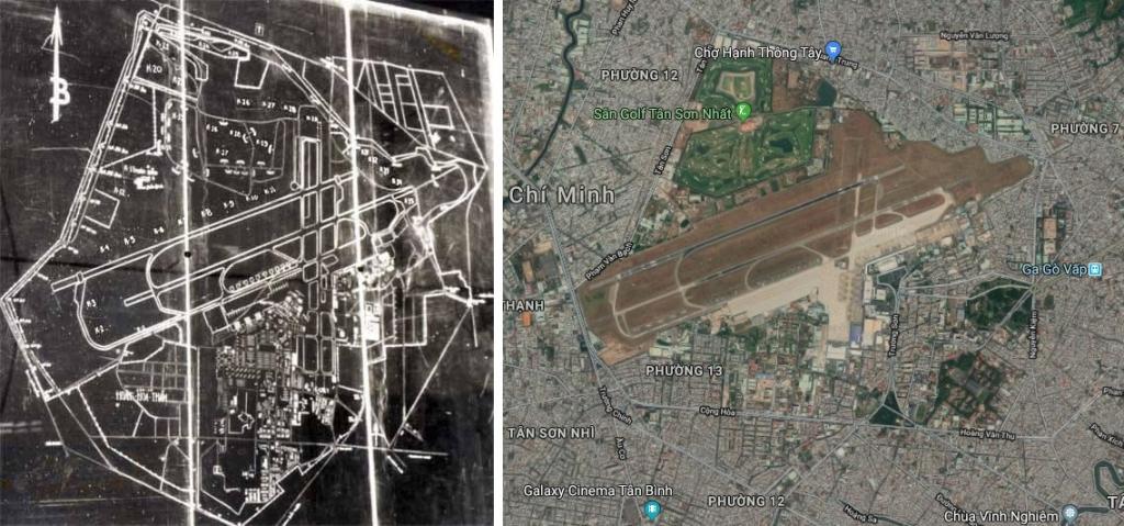 sân bay tân sơn nhất, sân bay tân sơn nhất trước và nay, diện tích sân bay tân sơn nhất