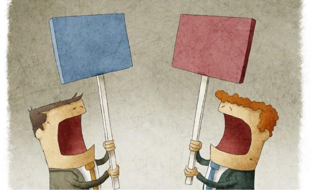 Phản biện và cãi bướng, tranh luận và cãi vã