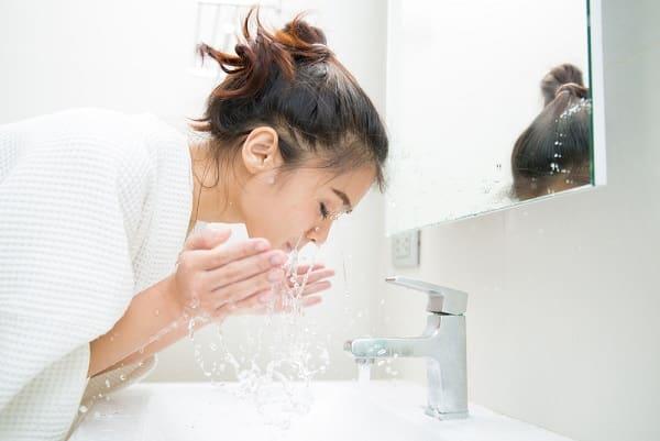 chăm sóc da, rửa mặt