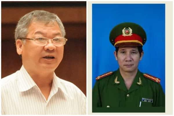 Ông Hồ Văn Năm (trái) và Huỳnh Tiến Mạnh.