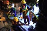 Vụ cháy Rạng Đông: Bắt đầu hút bùn, vệ sinh cống ngầm, rãnh thoát nước thải