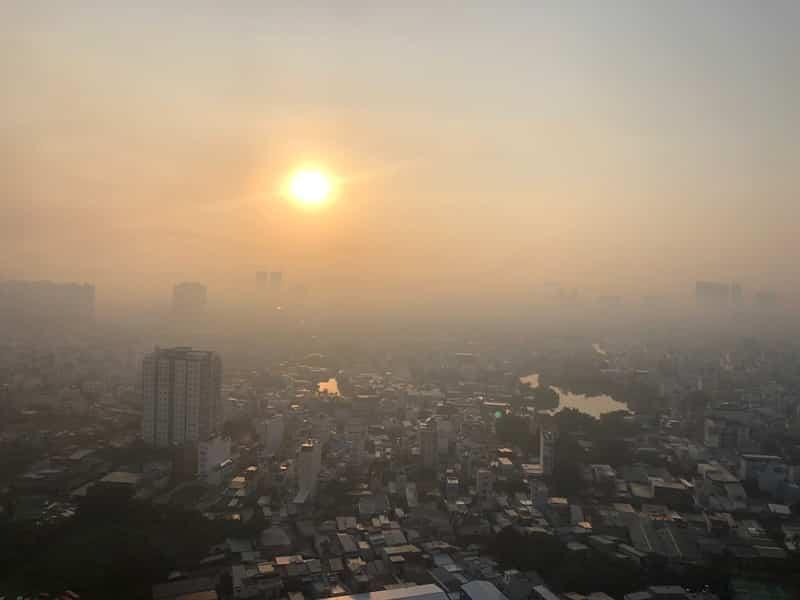ô nhiễm không khí tphcm, bụi mịn, mù quang hóa